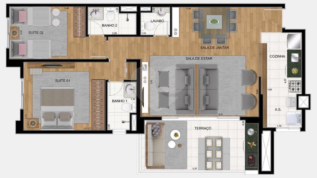 Apartamento 88m²