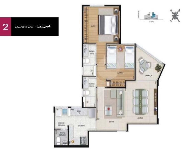 Apartamento 68m²
