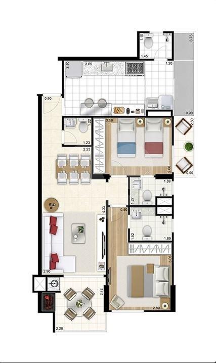 Apartamento 77m²