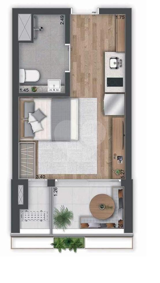 Apartamento 26m²