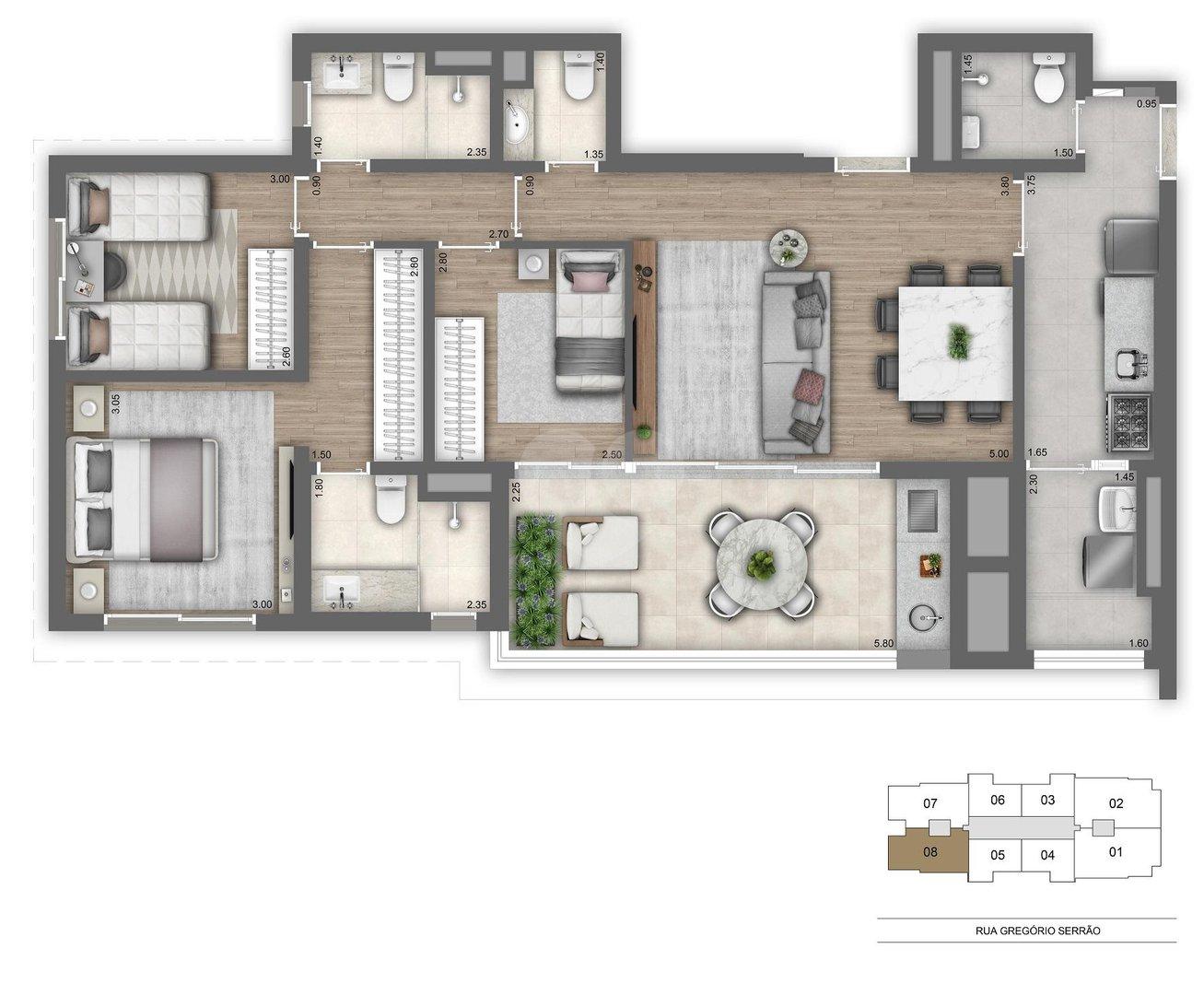 Apartamento 104m²