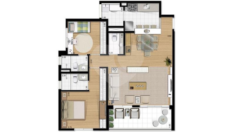 Apartamento 91m²
