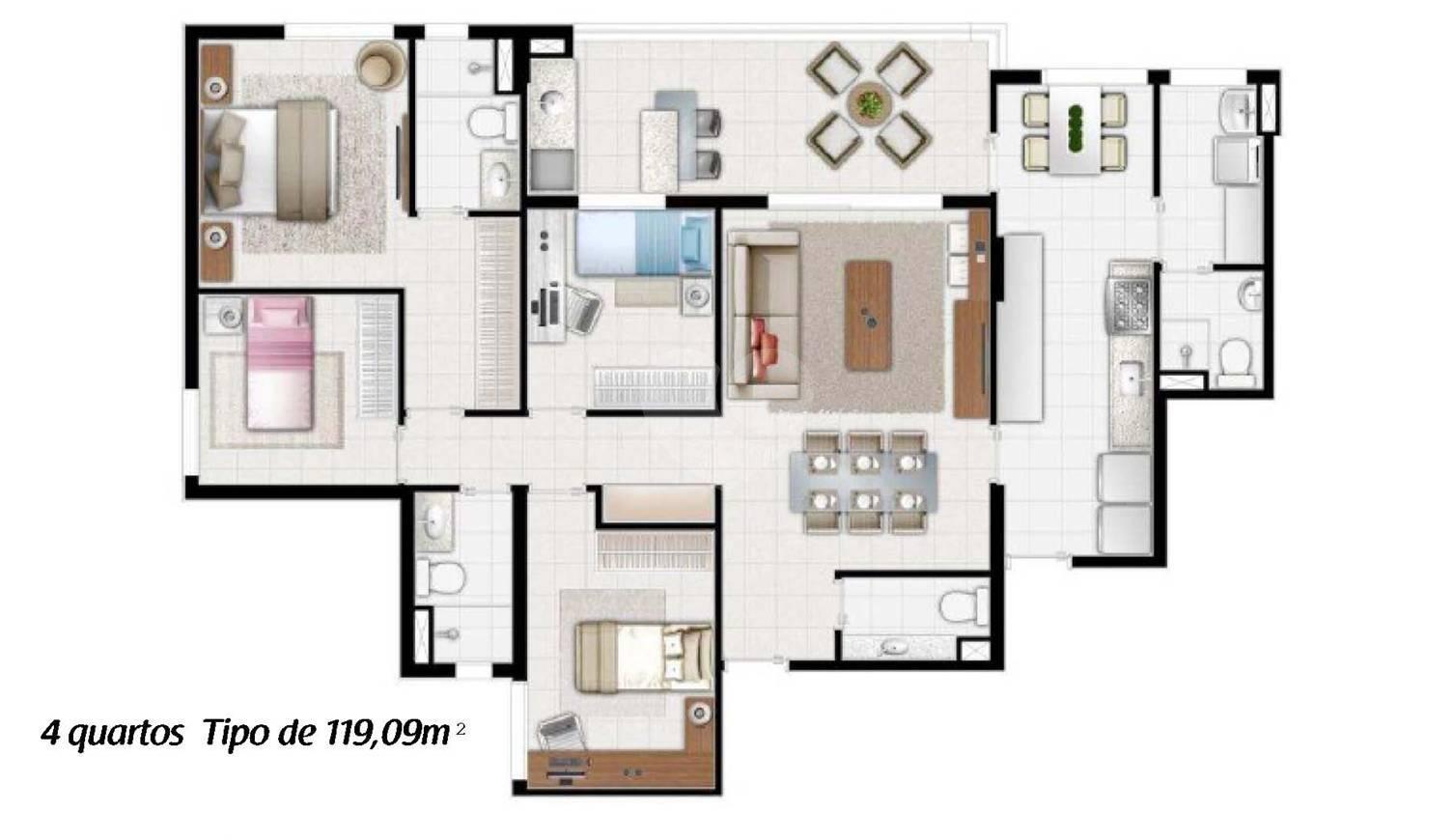 Apartamento 119m²