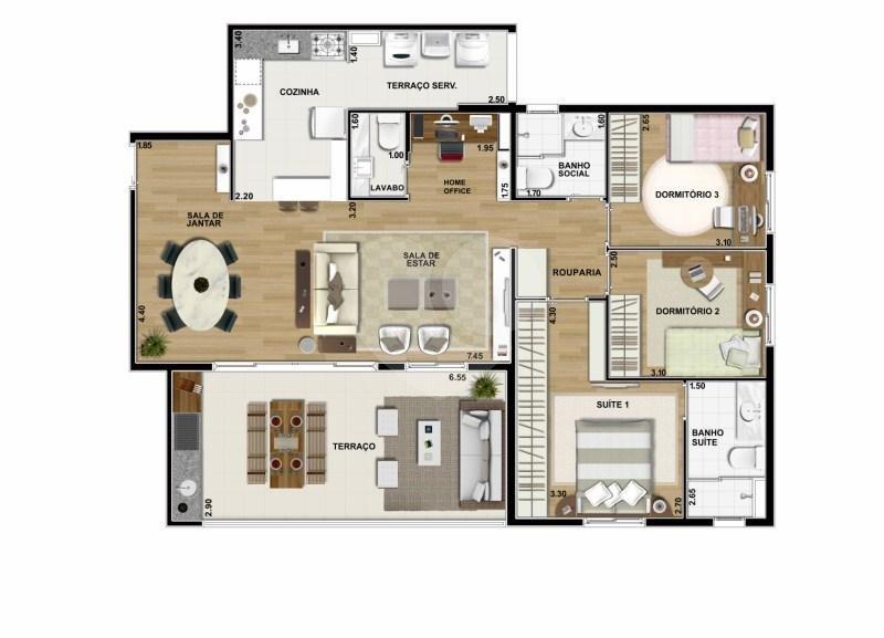 Apartamento 114m²