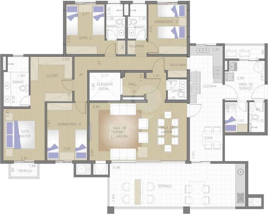 Apartamento 194m²