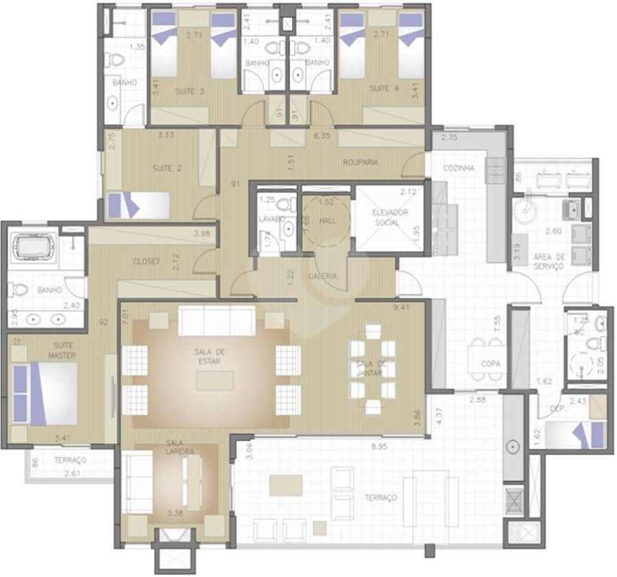 Apartamento 241m²