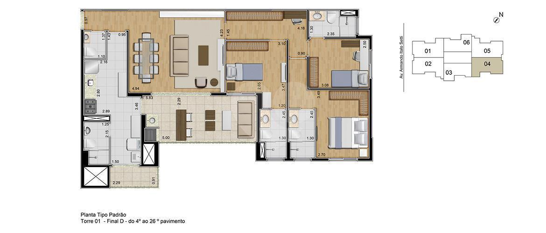 Apartamento 118m²