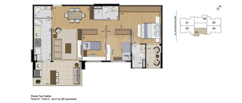 Apartamento 96m²