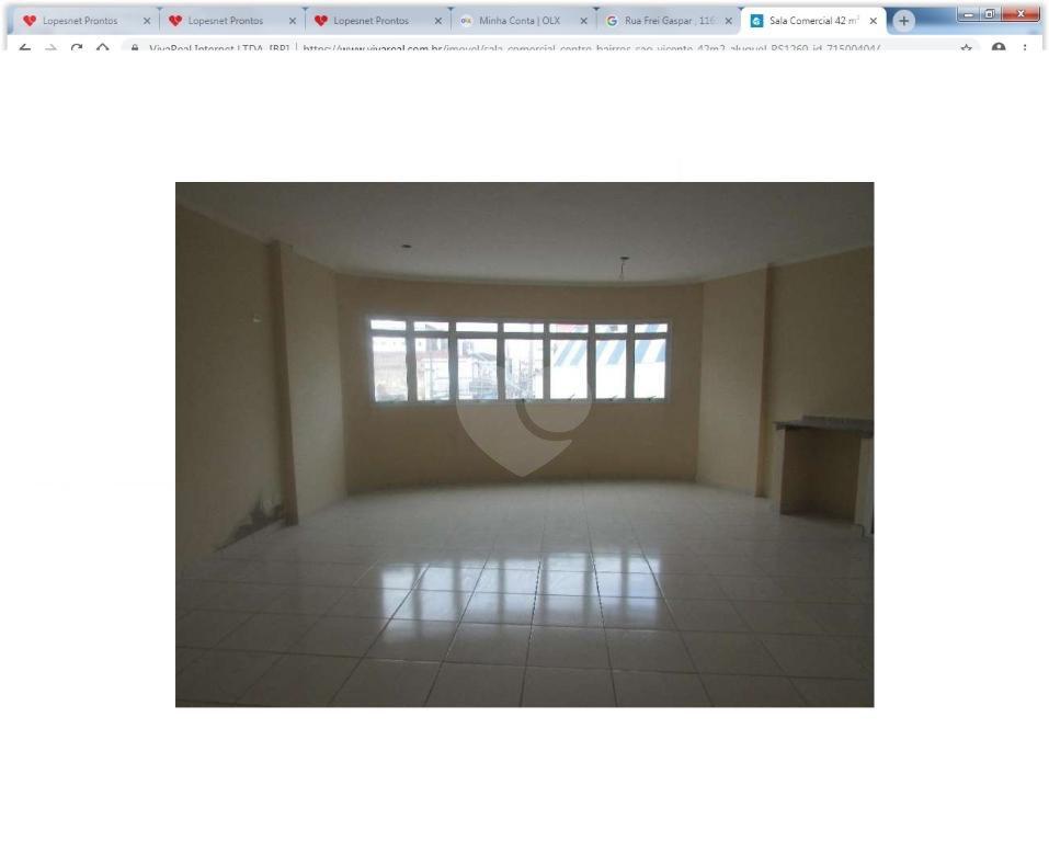 Aluguel Salas São Vicente Centro REO288470 15