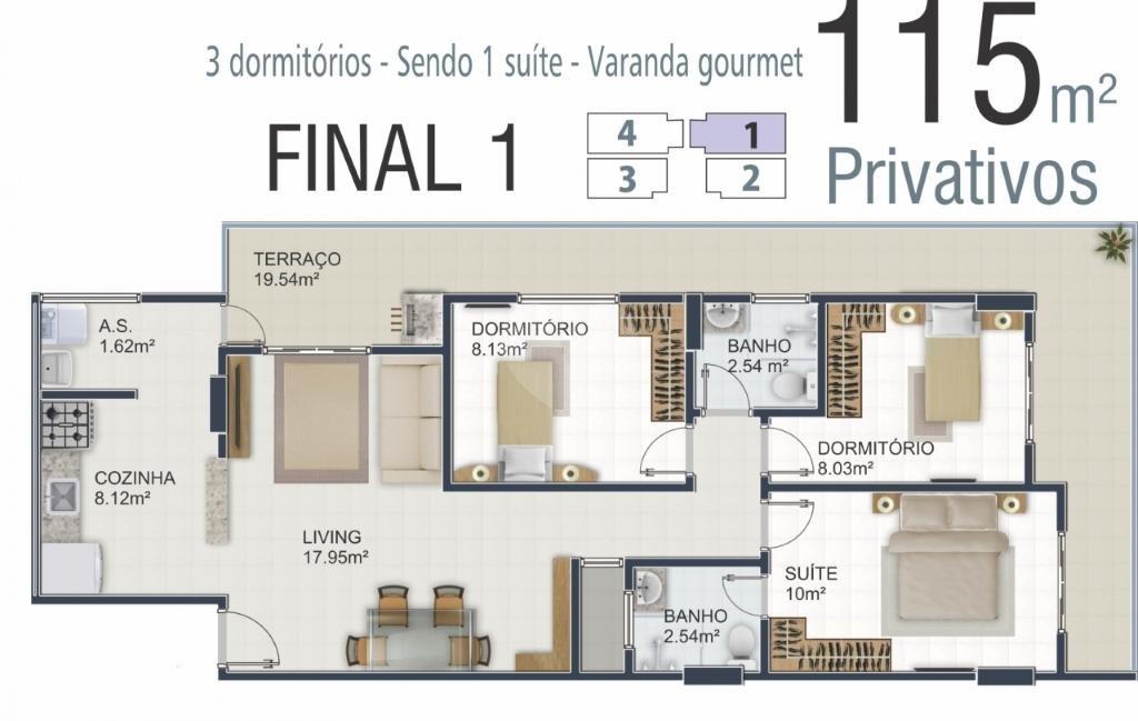 Venda Apartamento Praia Grande Aviação REO294810 2