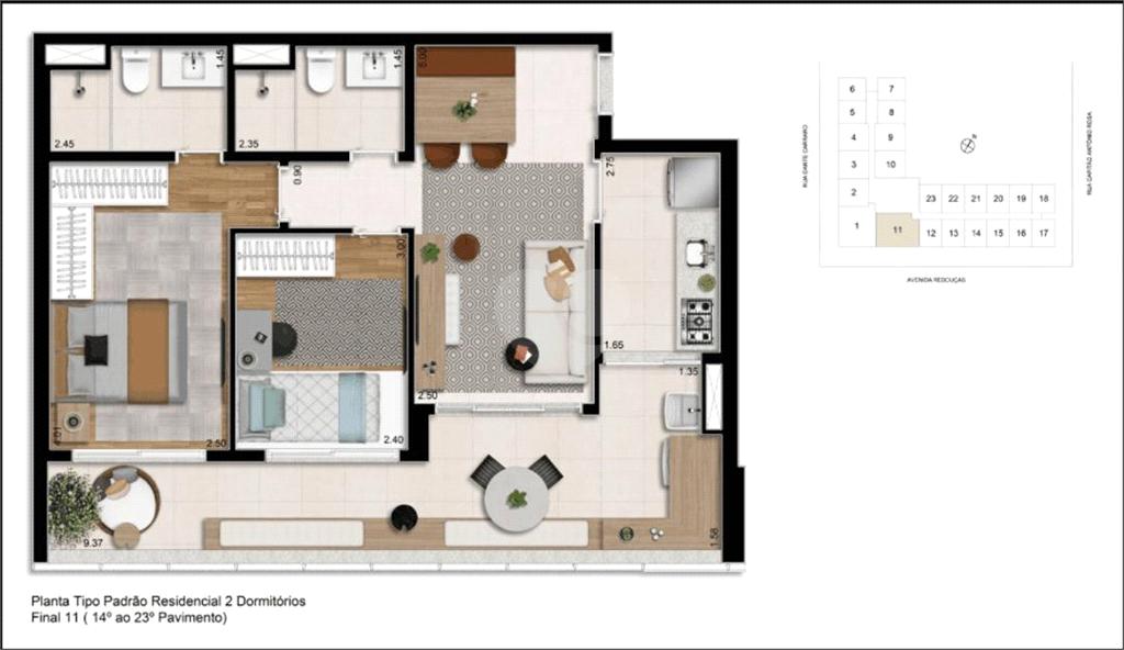 Venda Apartamento São Paulo Pinheiros REO375875 22