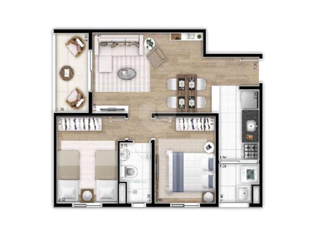 Venda Apartamento São Paulo Jardim Do Lago REO386446 6