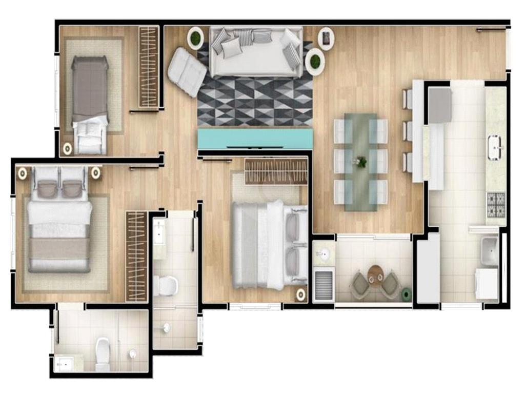Venda Apartamento Sorocaba Parque Campolim REO574887 18