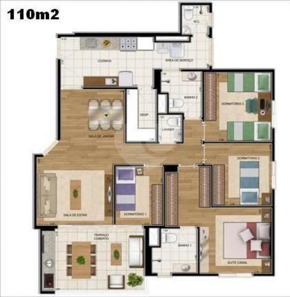 Venda Apartamento São Paulo Jardim Brasil (zona Sul) REO73724 22