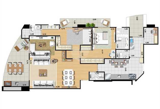Apartamento 124m²