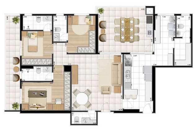 Apartamento 165m²