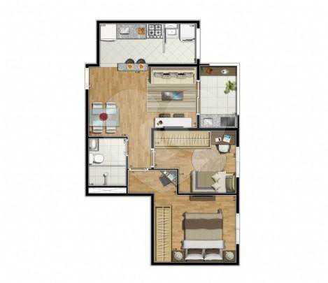 Apartamento 50m²