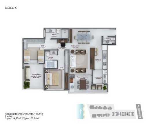 Apartamento 102m²