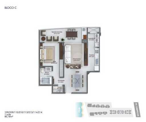 Apartamento 80m²