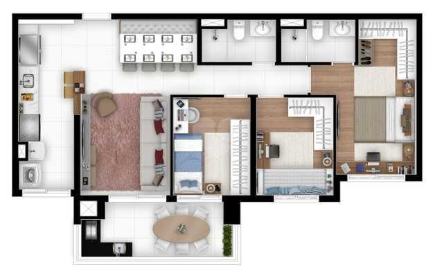 Apartamento 93m²