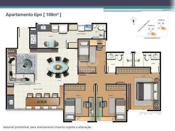 Apartamento 108m²