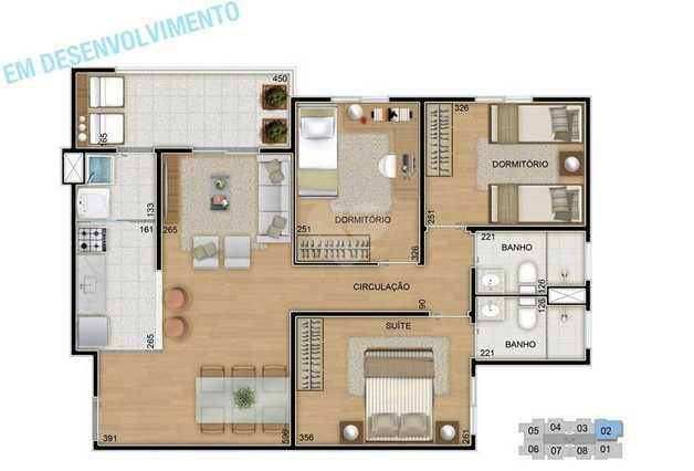 Apartamento 74m²