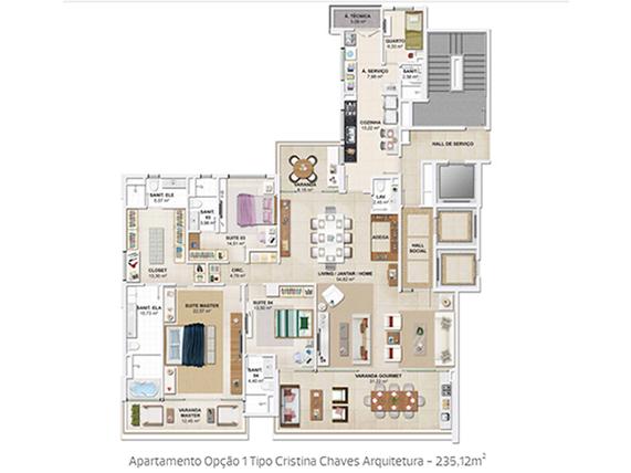 Apartamento 235m²