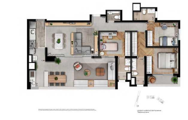 Apartamento 127m²