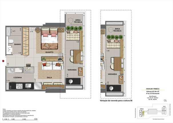 Apartamento 39m²