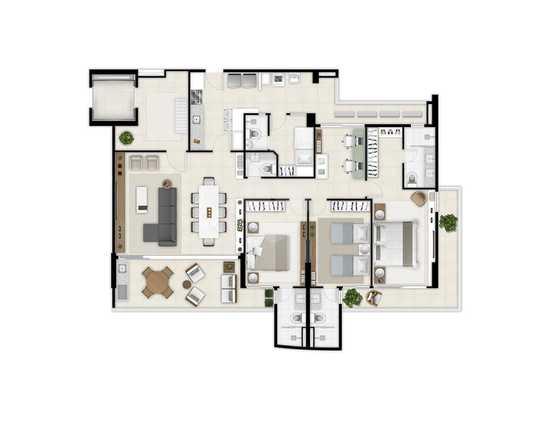 Apartamento 164m²