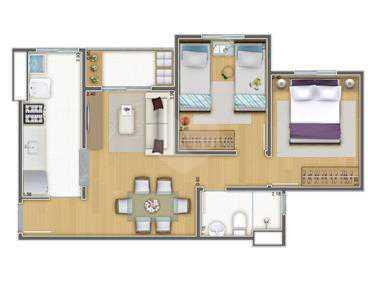 Apartamento 45m²