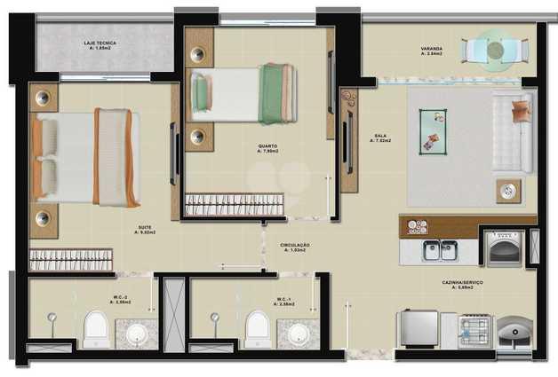 Apartamento 48m²
