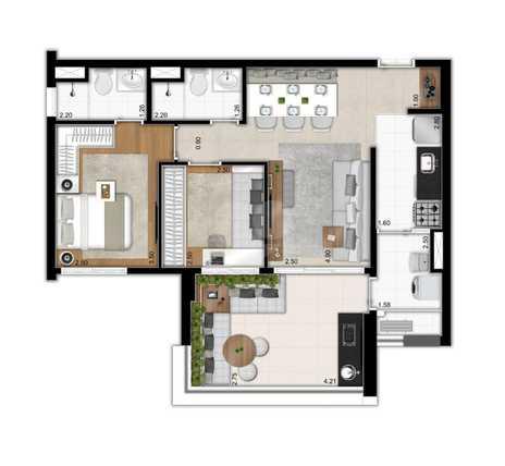 Apartamento 69m²