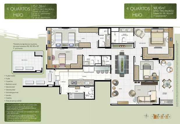 Apartamento 157m²