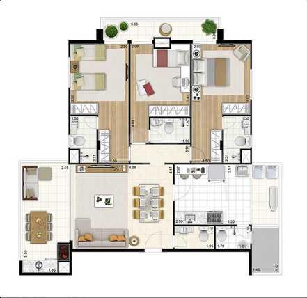 Apartamento 123m²
