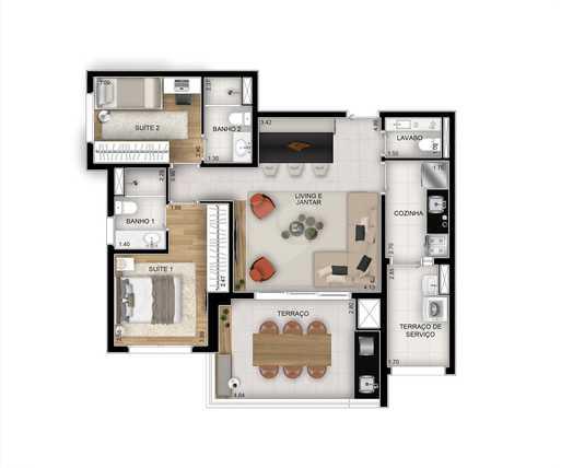 Apartamento 81m²