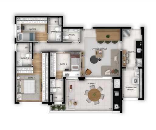 Apartamento 112m²