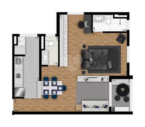 Apartamento 58m²