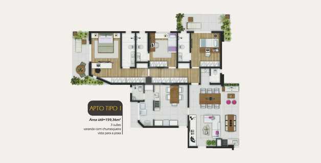 Apartamento 159m²