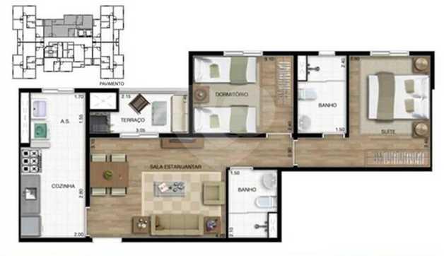 Apartamento 59m²