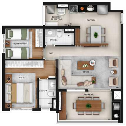 Apartamento 83m²