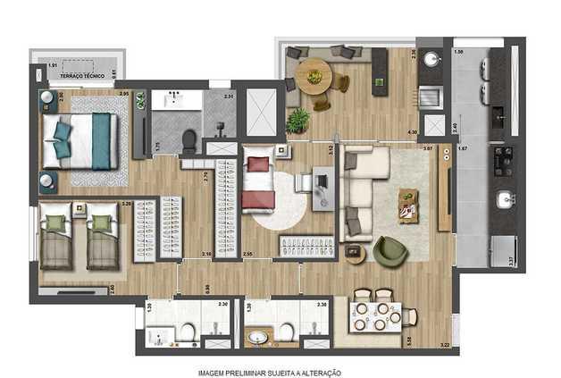 Apartamento 98m²