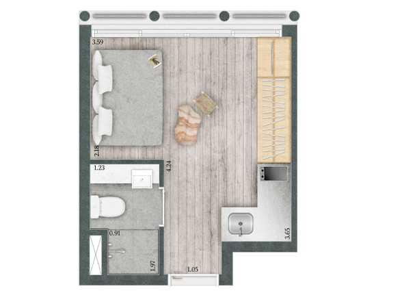 Apartamento 16m²