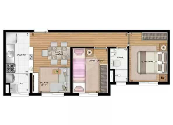 Apartamento 40m²