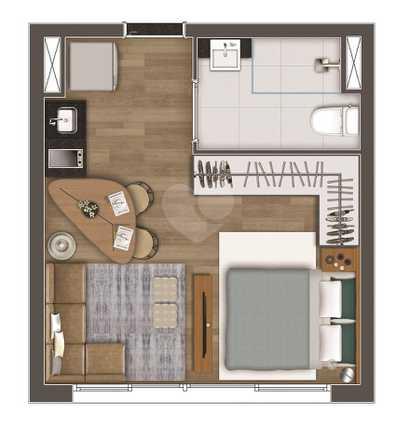Apartamento 25m²