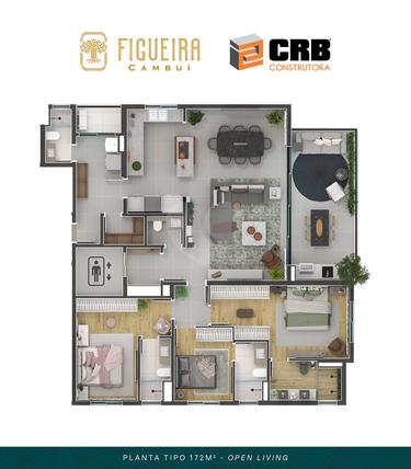 Apartamento 167m²