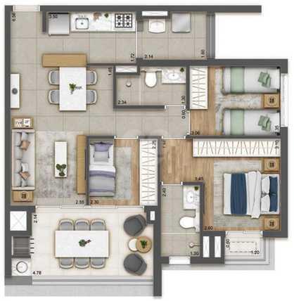 Apartamento 79m²