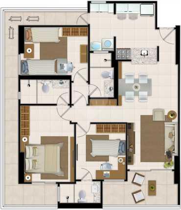 Apartamento 103m²