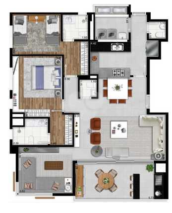 Apartamento 122m²