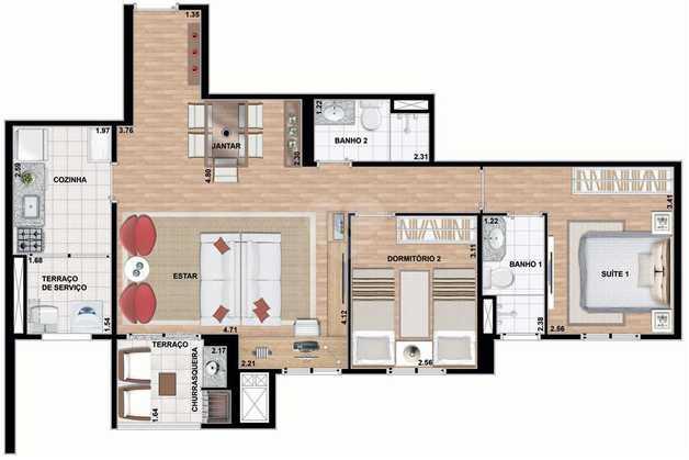 Apartamento 72m²